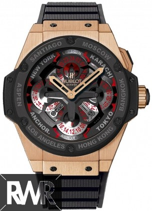 Replica Hublot King Power Unico GMT King Gold Ceramic 771.OM.1170.RX