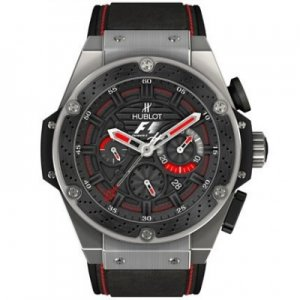 Hublot F1 King Power Black Dial Black Rubber Mens Replica Watch 703.ZM.1123.NR.FMO10